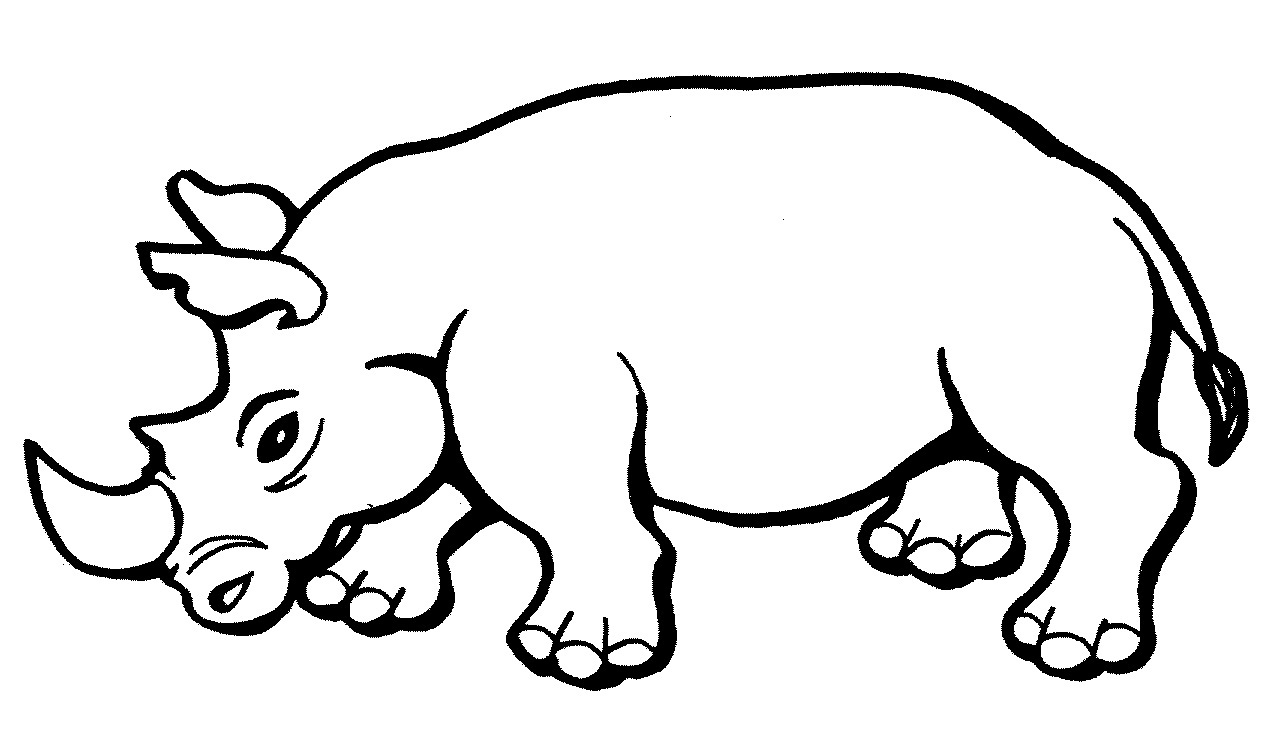 rhino coloring pages free rhino coloring pages pages coloring rhino