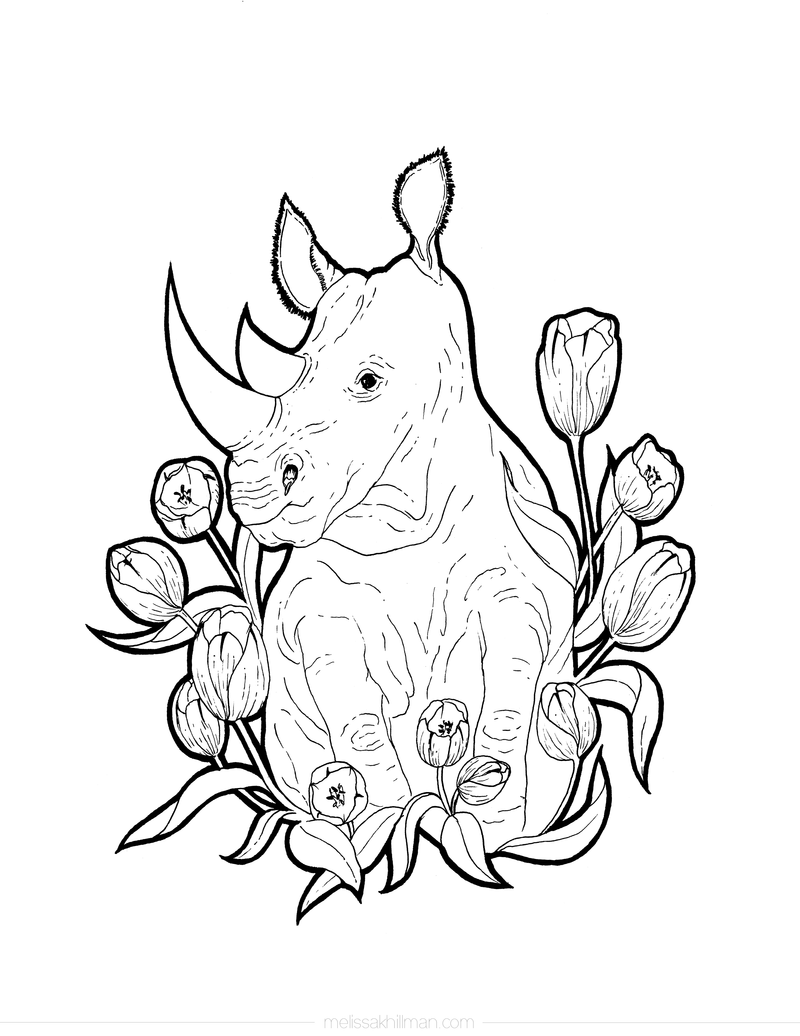 rhino coloring pages rhinoceros coloring page pages rhino coloring