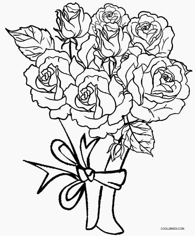 rose flower coloring pages printable rose coloring pages for kids rose coloring flower pages