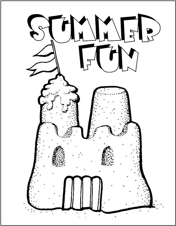 sand castle coloring free printable summer coloring pages castle coloring sand