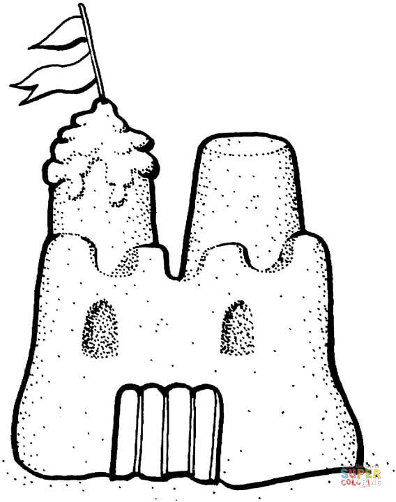 sand castle coloring sand castle coloring page castle sand coloring