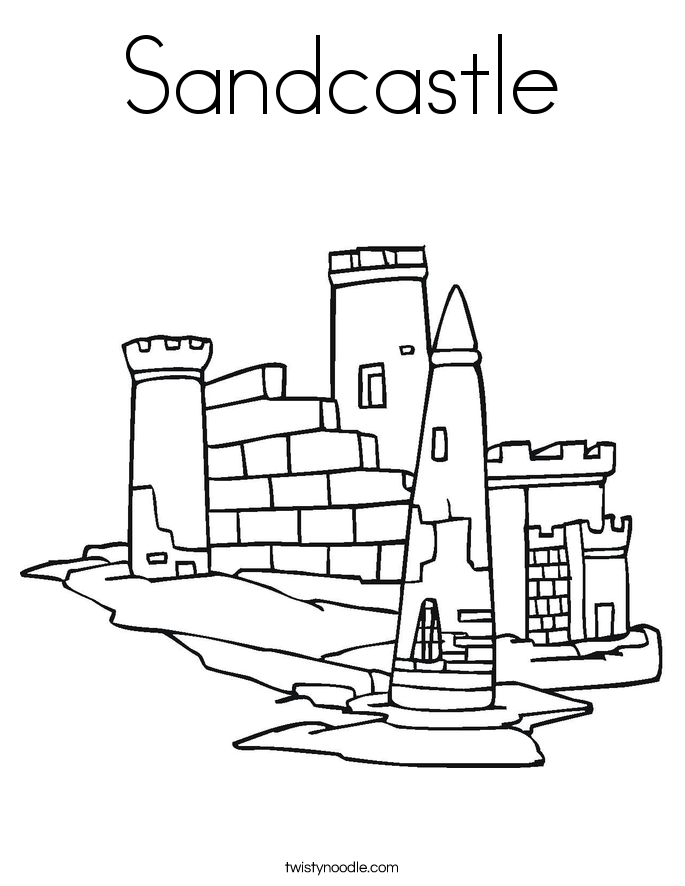 sand castle coloring sand coloring pages at getdrawings free download coloring sand castle