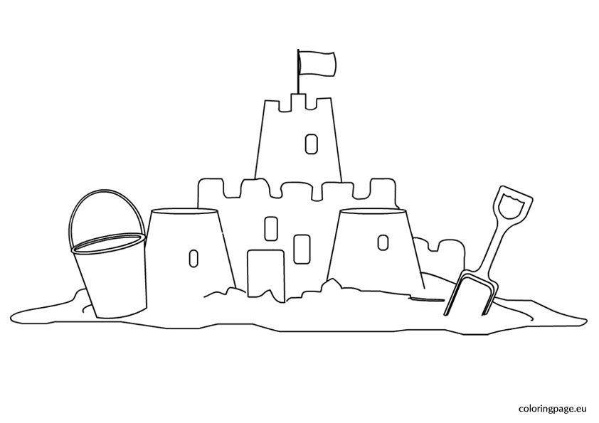 sand castle coloring sandcastle coloring page twisty noodle coloring castle sand
