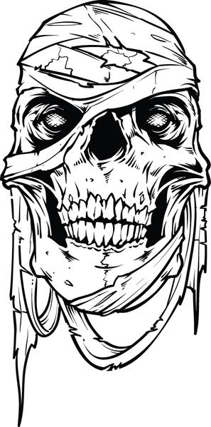 scary demon skull coloring pages demonic skulls horror grunge skulls pdf grayscale skull scary coloring demon pages