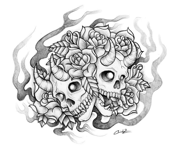 scary demon skull coloring pages devil skull drawing at getdrawings free download demon coloring skull pages scary