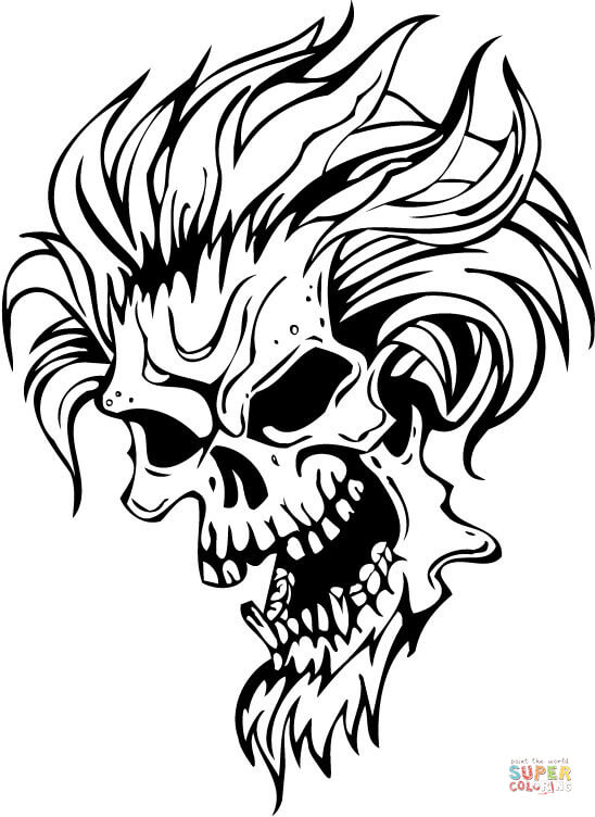 scary demon skull coloring pages pin on horror halloween coloring books skull pages coloring demon scary