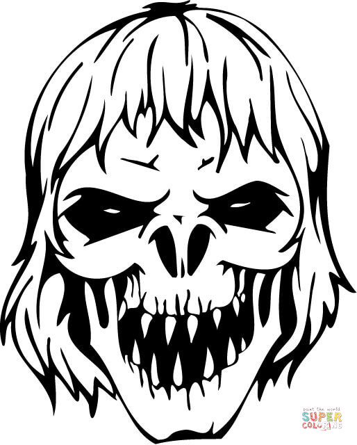 scary demon skull coloring pages scary demon skull coloring pages coloring pages skull pages demon coloring scary
