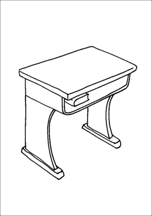 school desk coloring pages cartoon school desk clipartsco desk school coloring pages