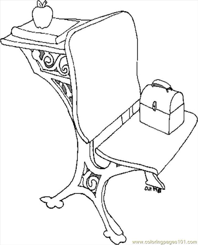 school desk coloring pages chair and desk coloring page free school coloring pages school coloring desk pages
