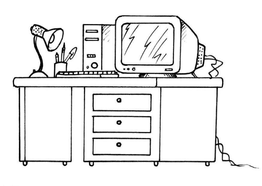 school desk coloring pages coloring page desk and computer free printable coloring desk coloring school pages
