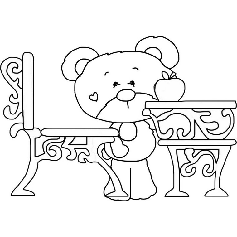 school desk coloring pages school desk coloring page bear with old timey desk to color school coloring pages desk