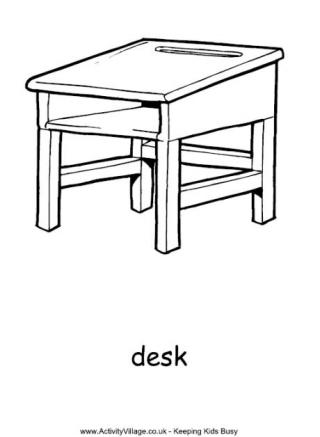 school desk coloring pages school desk drawing at getdrawings free download school pages coloring desk