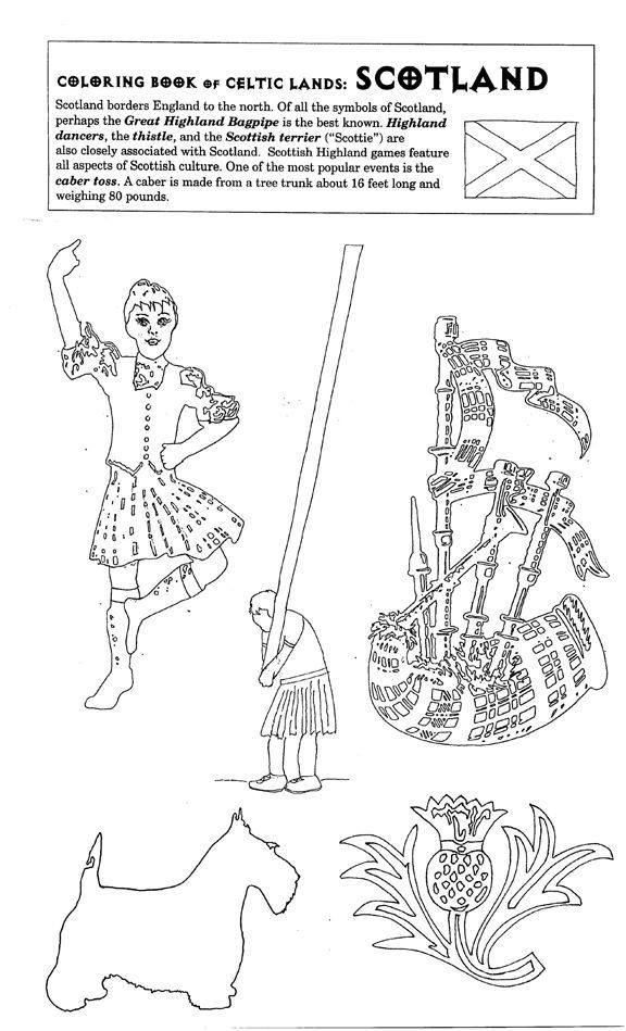 scottish colouring pages bagpipes and kilt coloring pages coloring pages scottish pages colouring