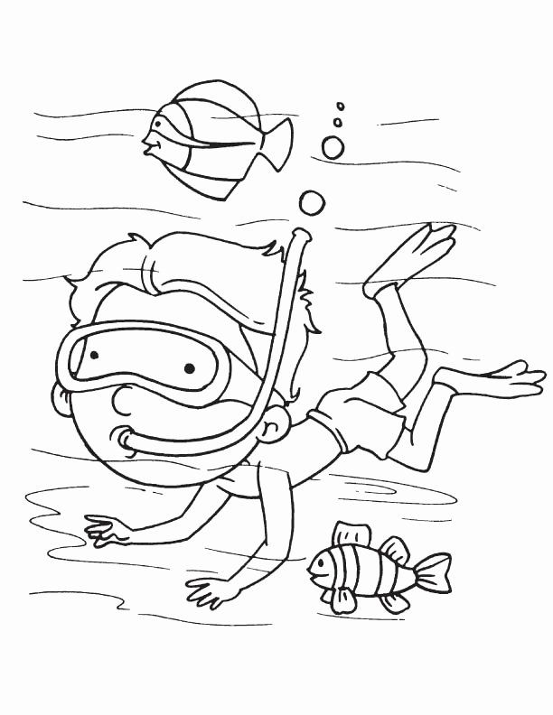 scuba diver coloring sheet scuba diver coloring page at getdrawings free download scuba sheet coloring diver