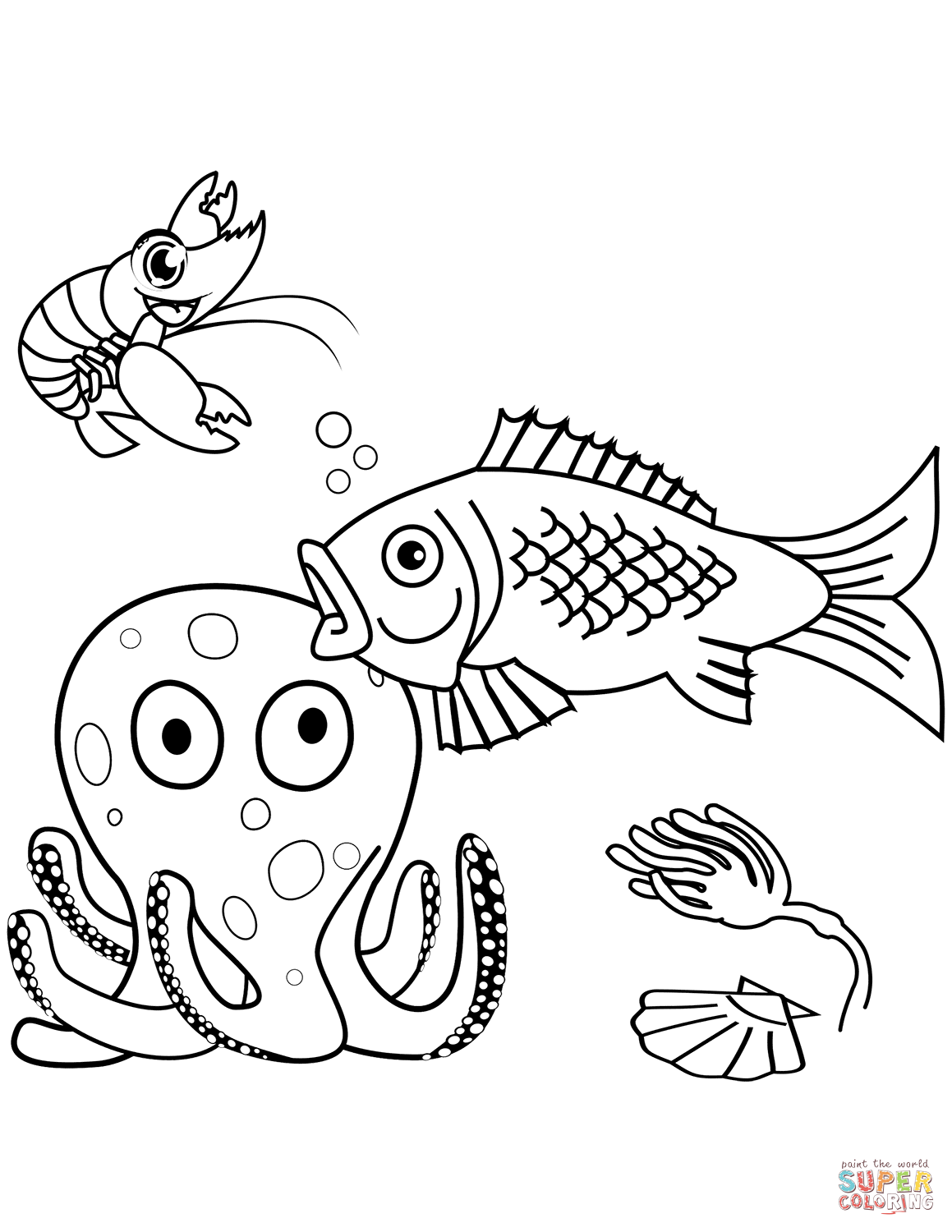 sealife coloring pages sea life coloring page free printable coloring pages pages coloring sealife