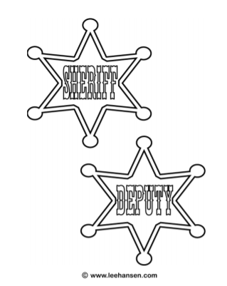 sheriff badge coloring page cowboy sheriff badge and deputy badge coloring page badge page sheriff coloring