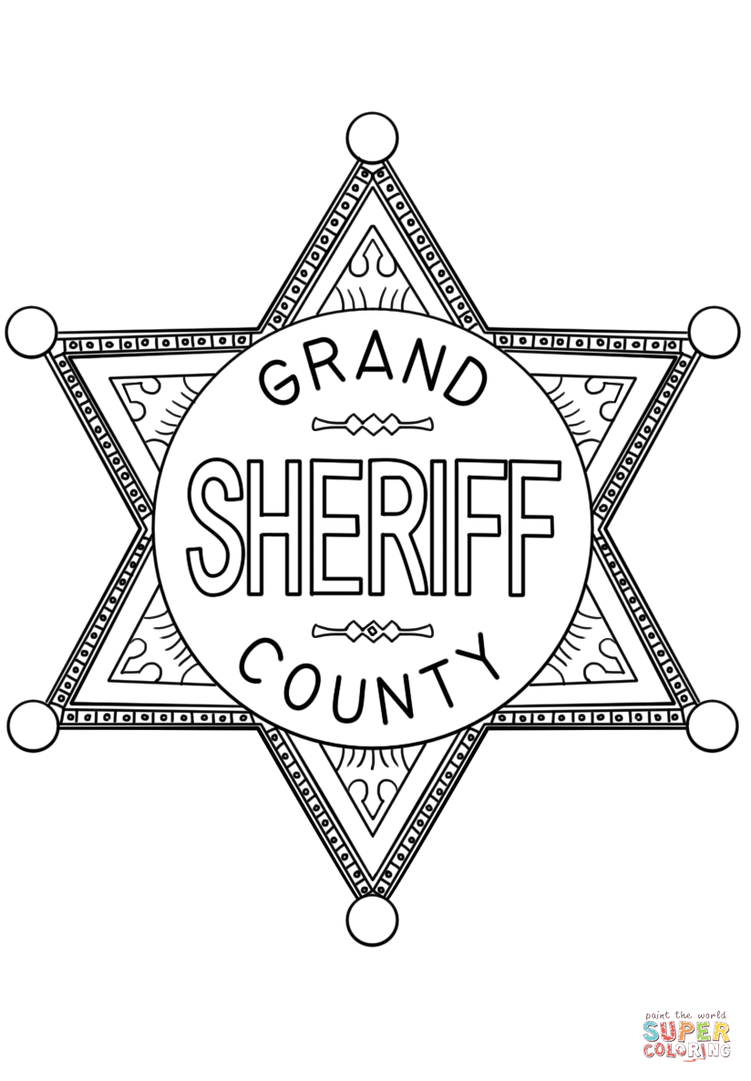 sheriff badge coloring page picture of sheriff badge coloring page coloring sky sheriff coloring page badge