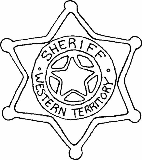 sheriff badge coloring page pin by christina notarfonzo on deputy wife coloring sheriff badge page