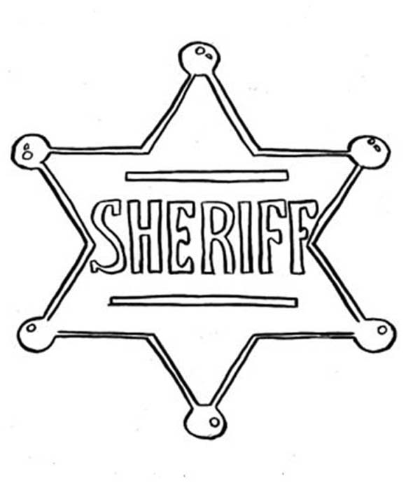 sheriff badge coloring page sheriff badge coloring page at getcoloringscom free badge page sheriff coloring