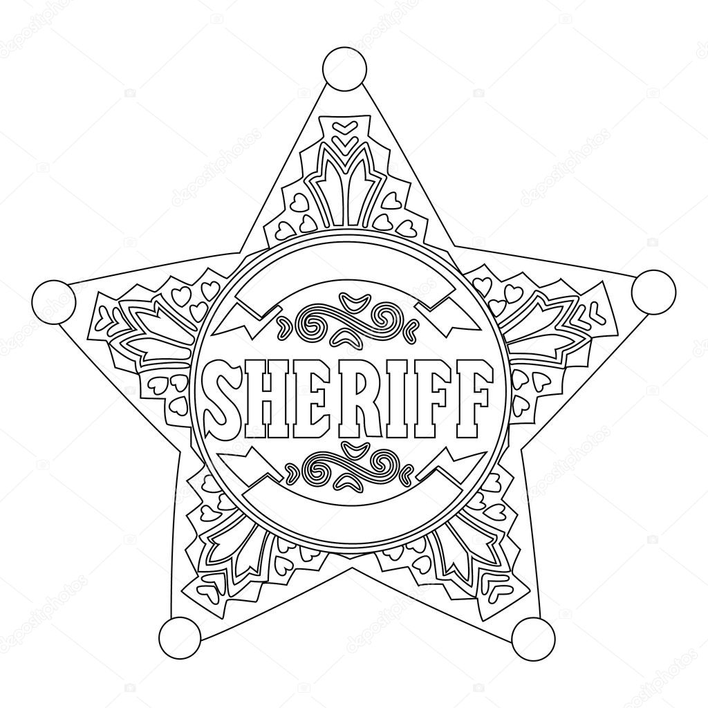 sheriff badge coloring page sheriff badge coloring page coloring pages page sheriff badge coloring