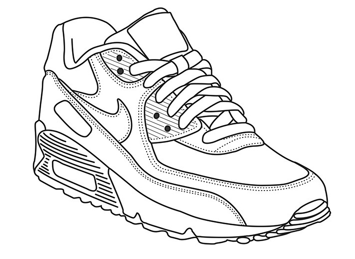 shoes pictures to color nike coloring pages at getdrawings free download to color pictures shoes