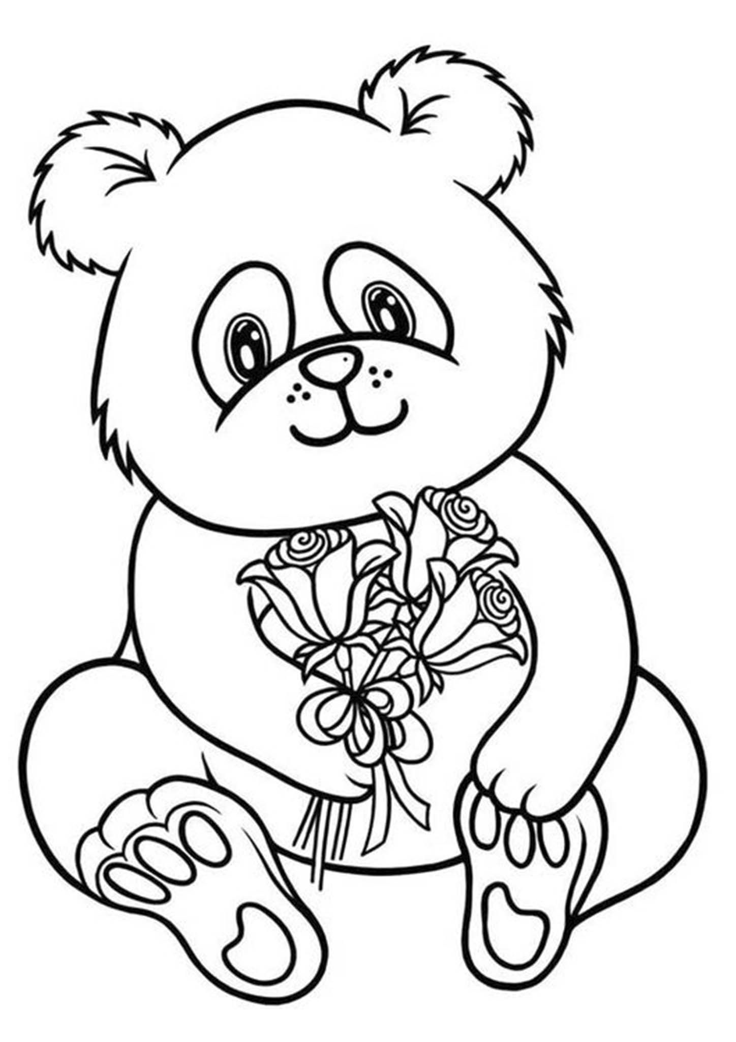 simple panda coloring pages free easy to print panda coloring pages in 2020 panda coloring pages panda simple