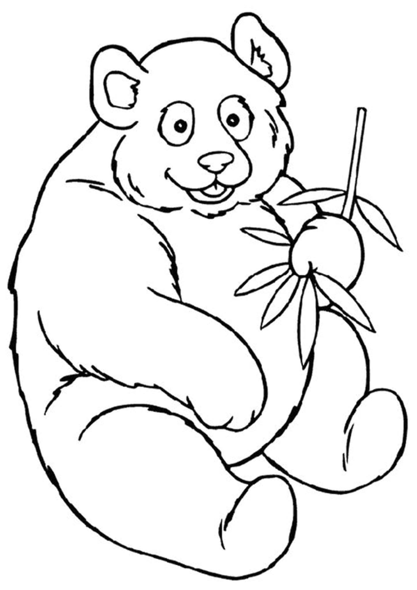 simple panda coloring pages free easy to print panda coloring pages in 2020 panda pages panda coloring simple