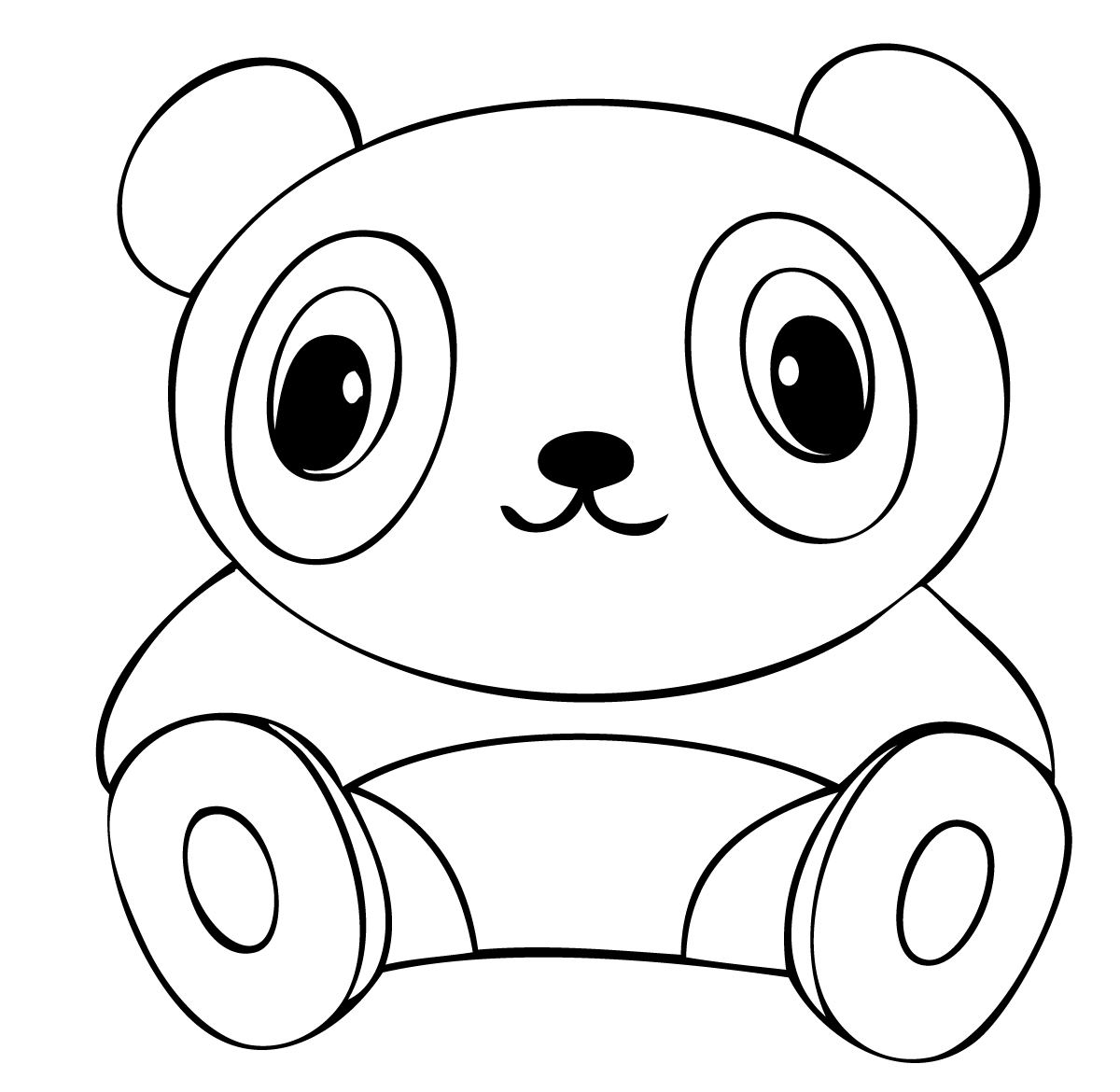 simple panda coloring pages free easy to print panda coloring pages in 2020 panda panda pages simple coloring