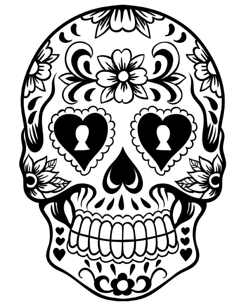 skulls to color free printable skull coloring pages for kids color to skulls