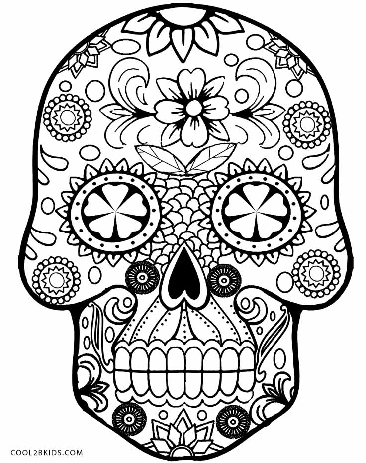 skulls to color free printable skull coloring pages for kids skulls color to