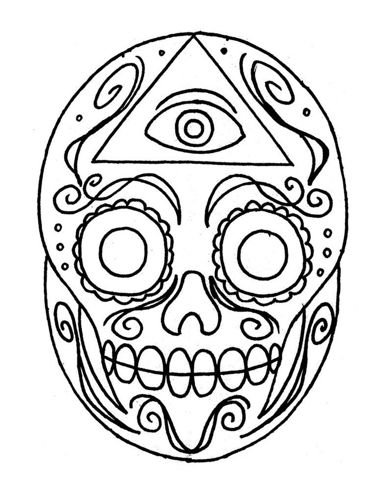 skulls to color mexican sugar skull coloring pages at getdrawings free skulls to color