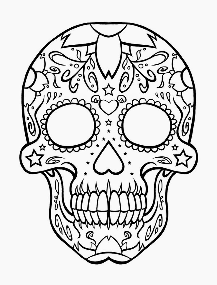 skulls to color print download sugar skull coloring pages to have skulls to color