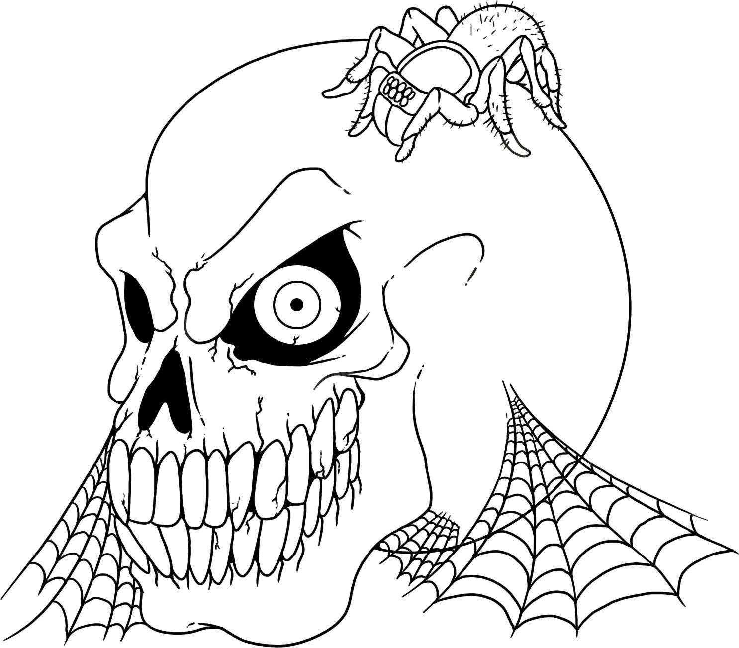 skulls to color printable skull coloring pages coloringmecom skulls to color