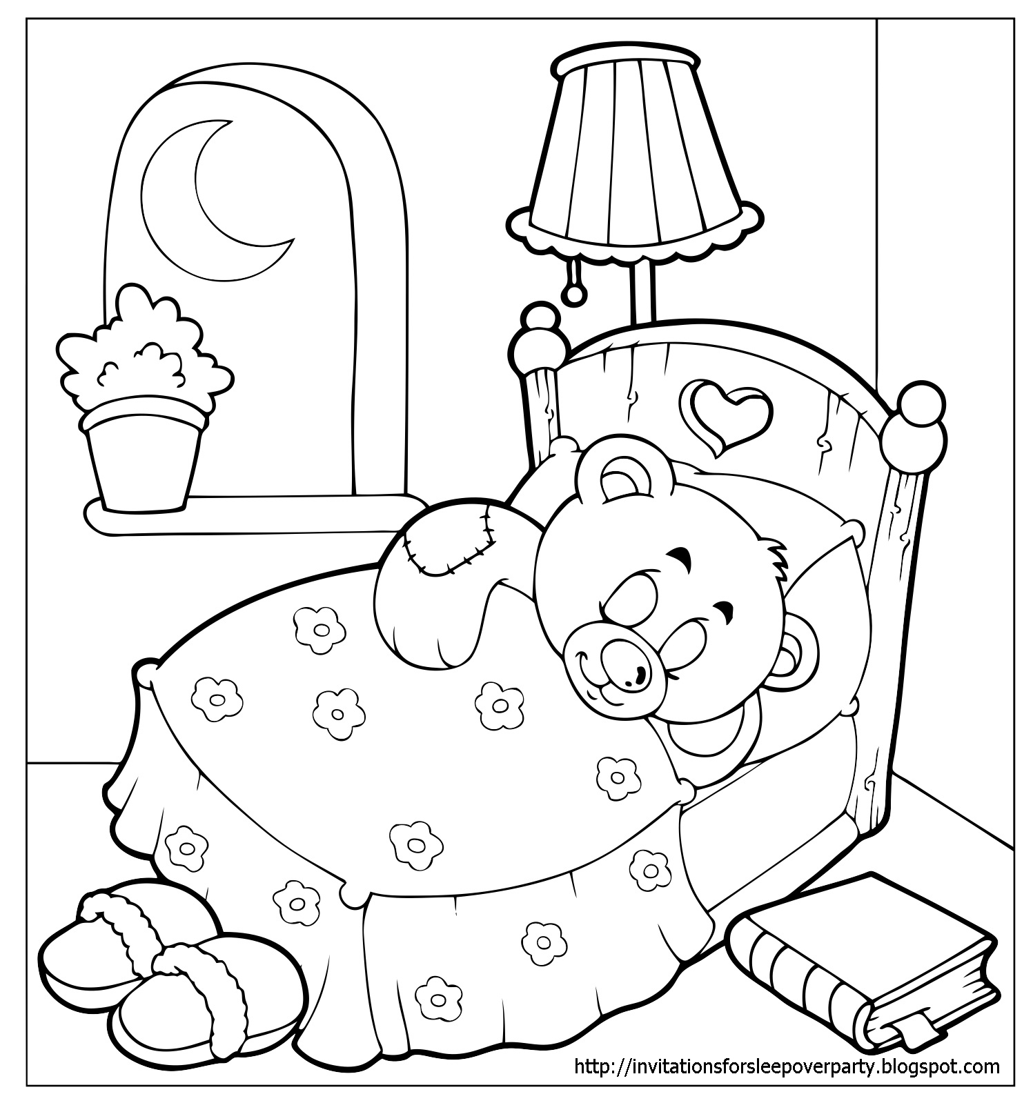 sleepover coloring pages invitations for sleepover party pages coloring sleepover 1 1