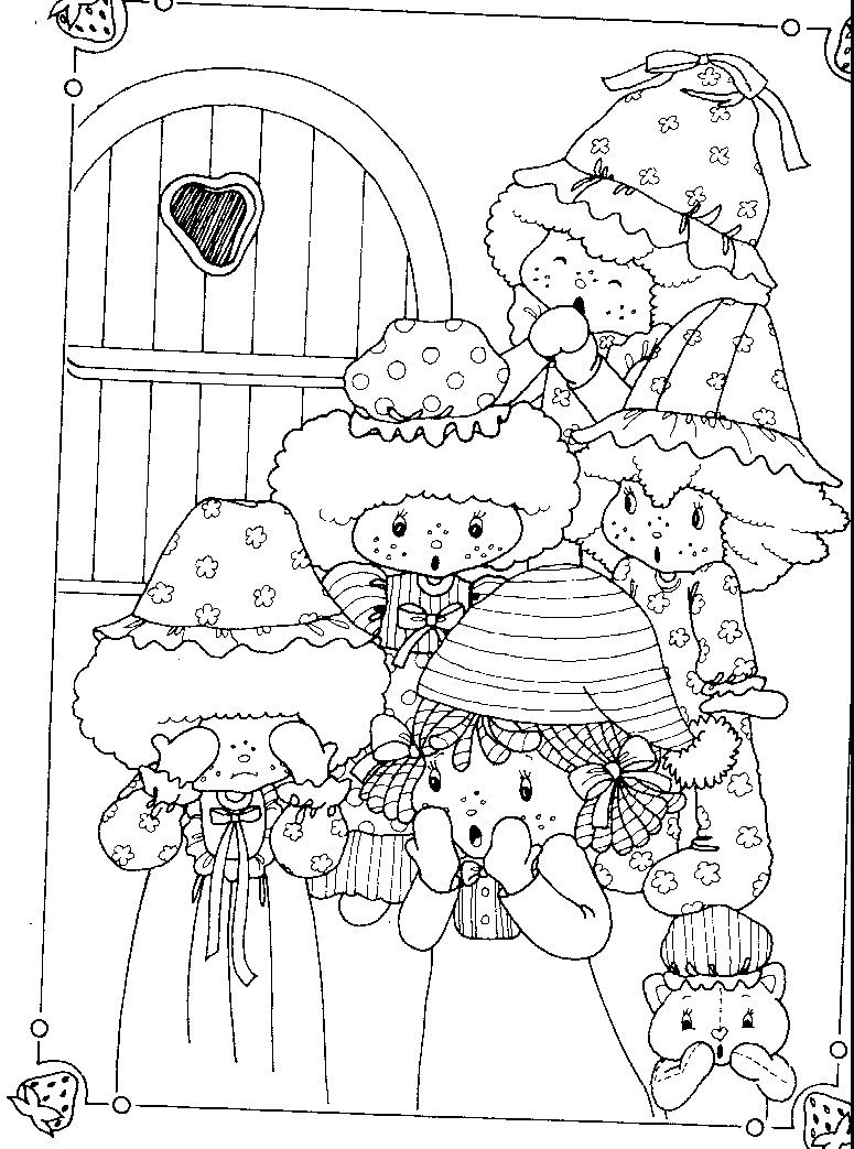 sleepover coloring pages pin by ramonaq on vintage shortcake coloring books sleepover pages coloring