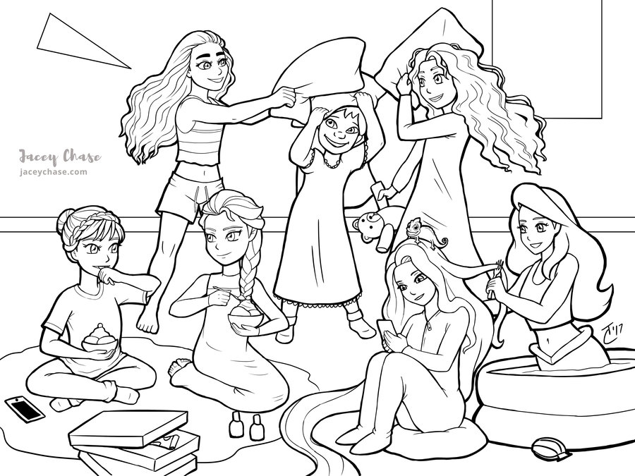 sleepover coloring pages sleepover drawing at getdrawings free download coloring pages sleepover