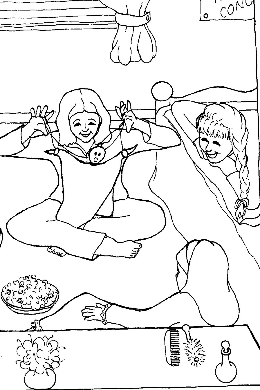 sleepover coloring pages sleepover drawing at getdrawings free download sleepover pages coloring