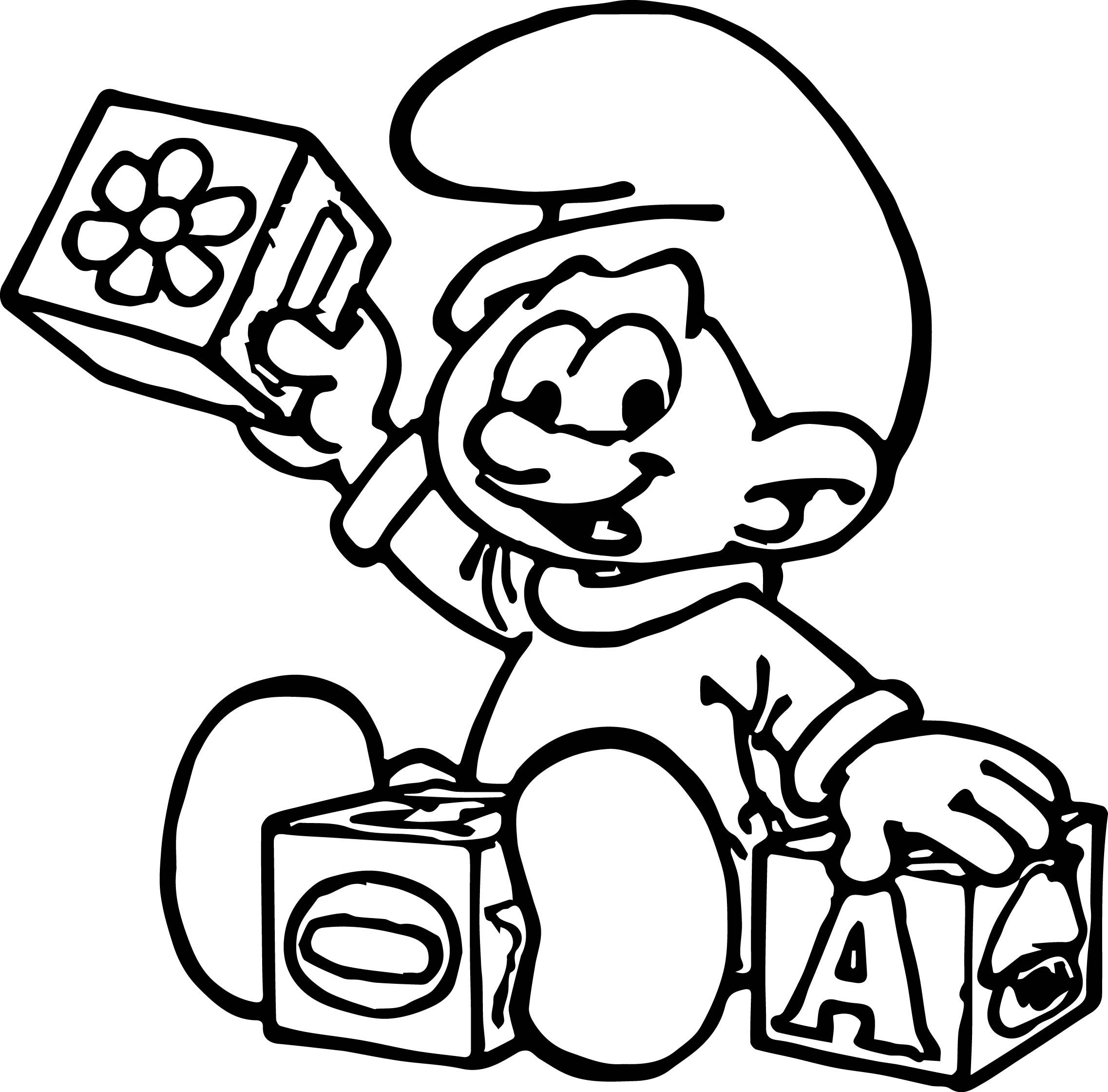 smurfs coloring pages awesome hefty smurf coloring pages coloring pages pages coloring smurfs