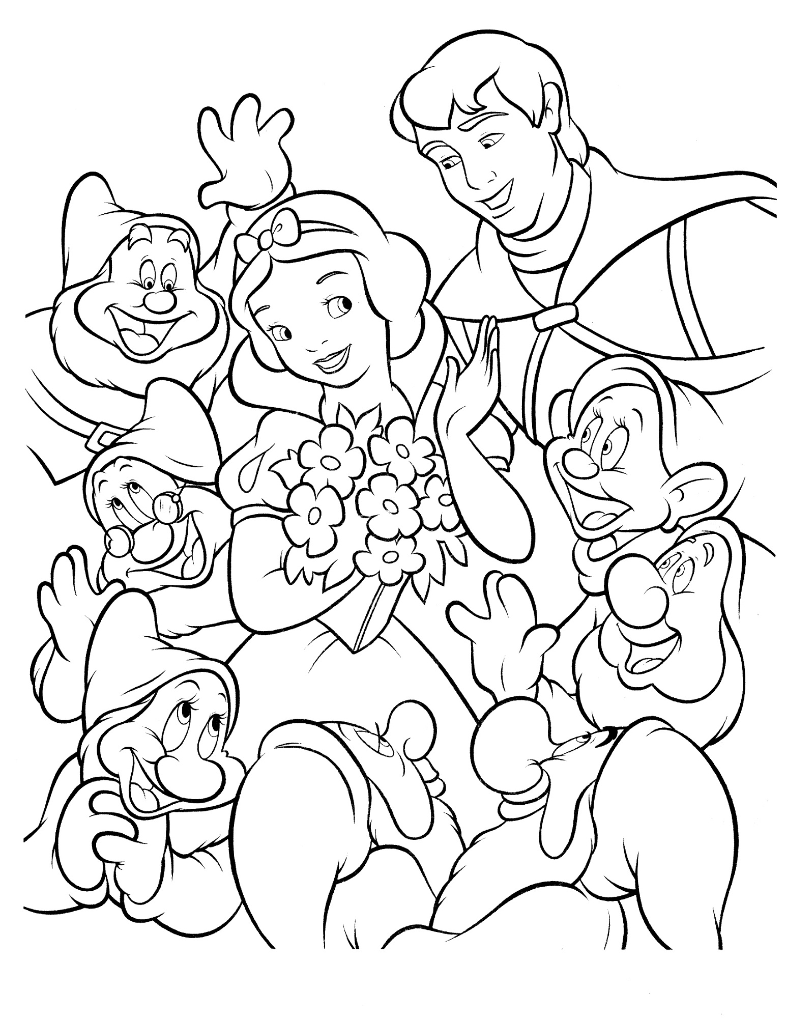 snow white for coloring snow white coloring pages disneyclipscom for snow coloring white