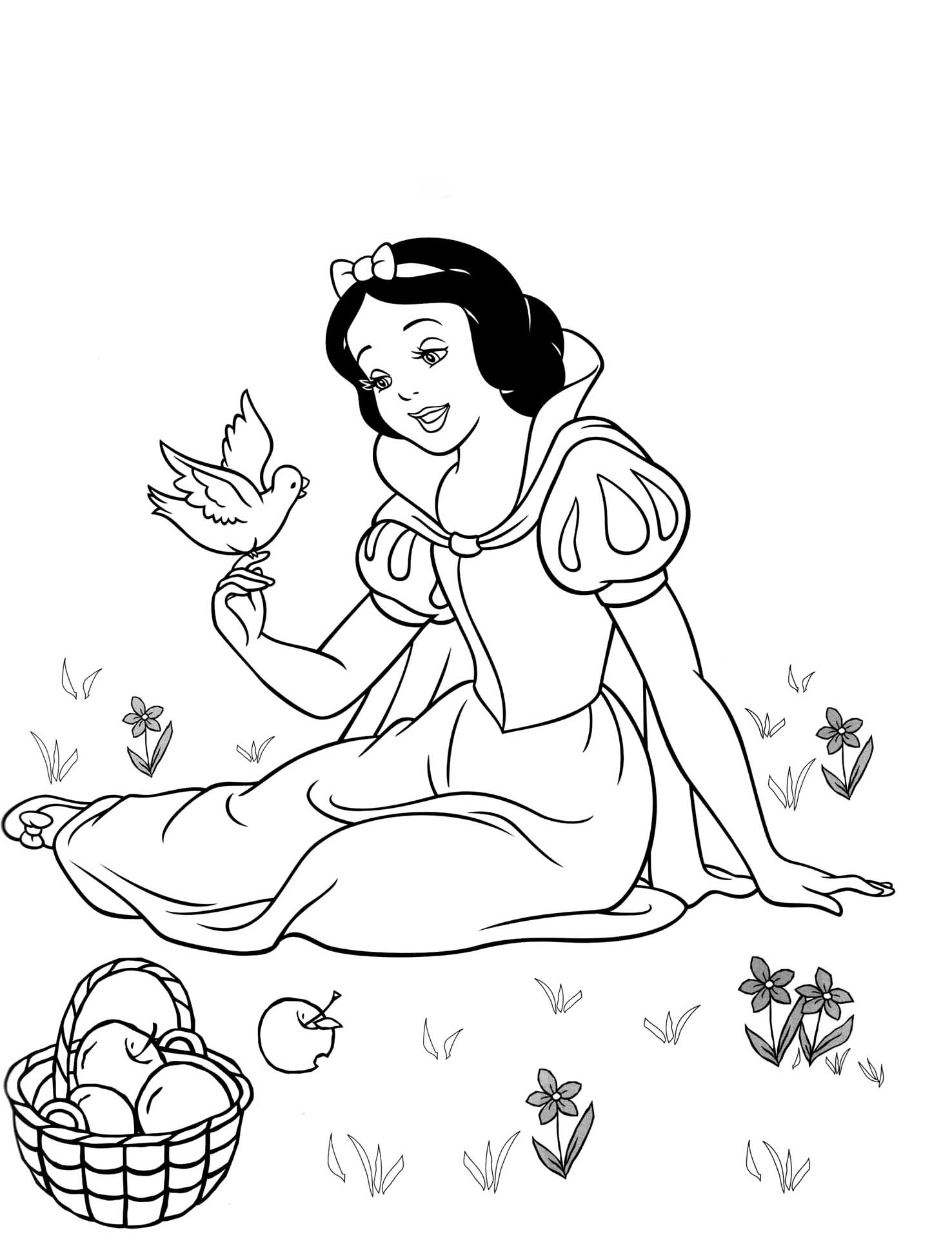 snow white for coloring snow white coloring pages disneyclipscom white for coloring snow