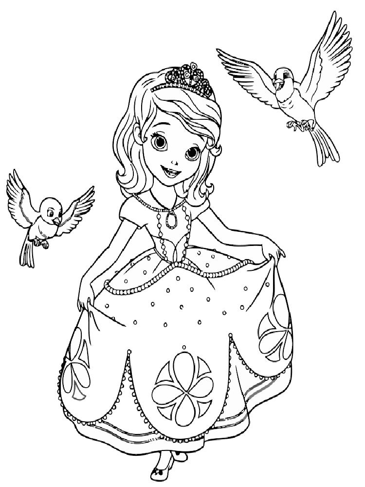sofia the first coloring pages free printable sofia the first coloring pages print color craft first free pages coloring the sofia