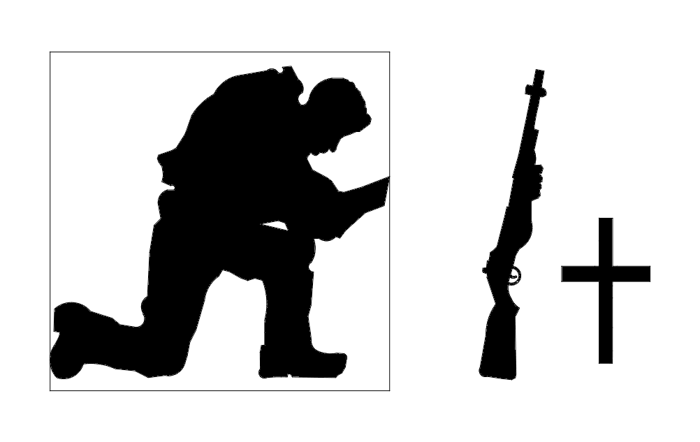 soldier praying silhouette praying soldier dxf file free download 3axisco soldier praying silhouette