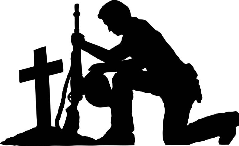 soldier praying silhouette silhouette of a soldier kneeling at getdrawings free praying soldier silhouette