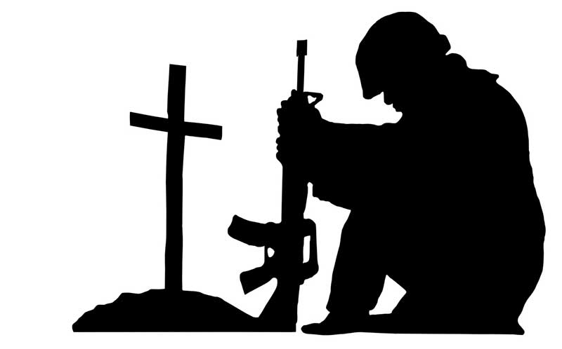 soldier praying silhouette silhouette of a soldier kneeling in respect for a fallen soldier praying silhouette