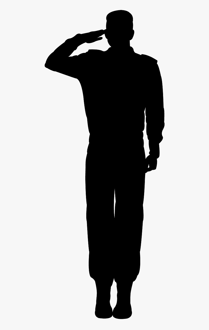 soldier silhouette army soldier salute silhouette hd png download kindpng soldier silhouette