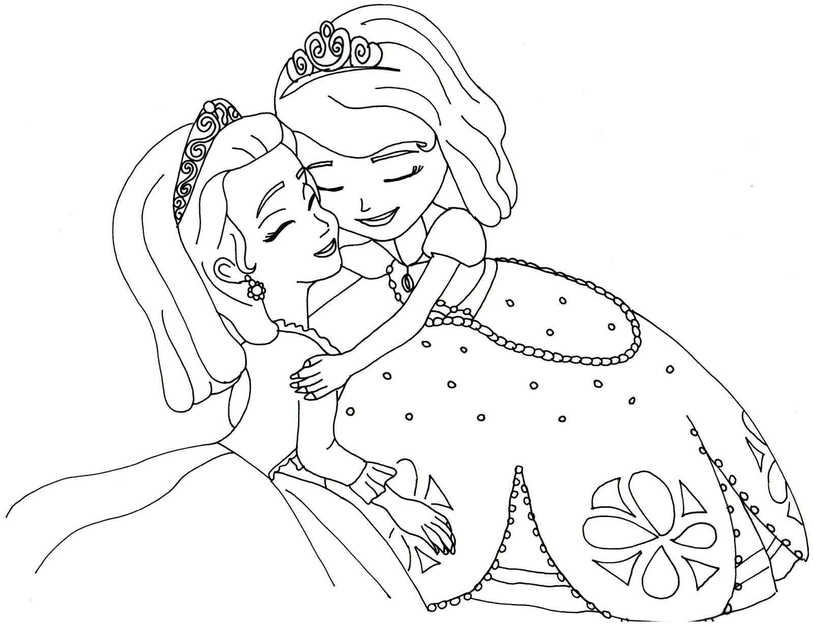 sophia the first coloring pages sofia and clover coloring page free printable coloring pages pages sophia coloring first the