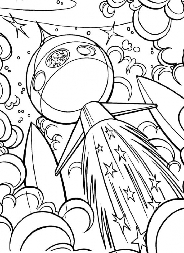 space coloring free printable astronaut in space pdf coloring page coloring space
