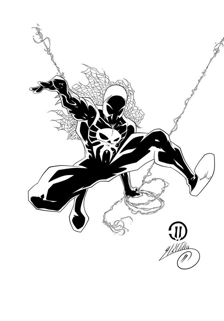 spider man 2099 coloring pages spider man 2099 ink 1 by swave18 on deviantart spider coloring man pages 2099