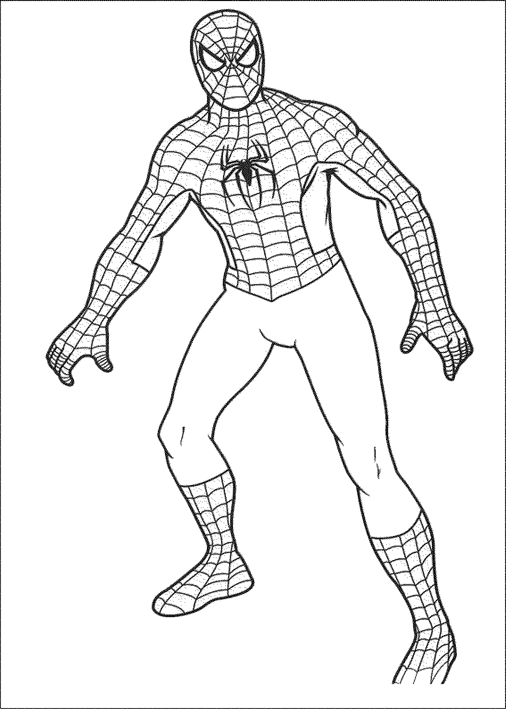 spiderman coloring pages easy simple spiderman coloring pages at getdrawings free download pages easy coloring spiderman