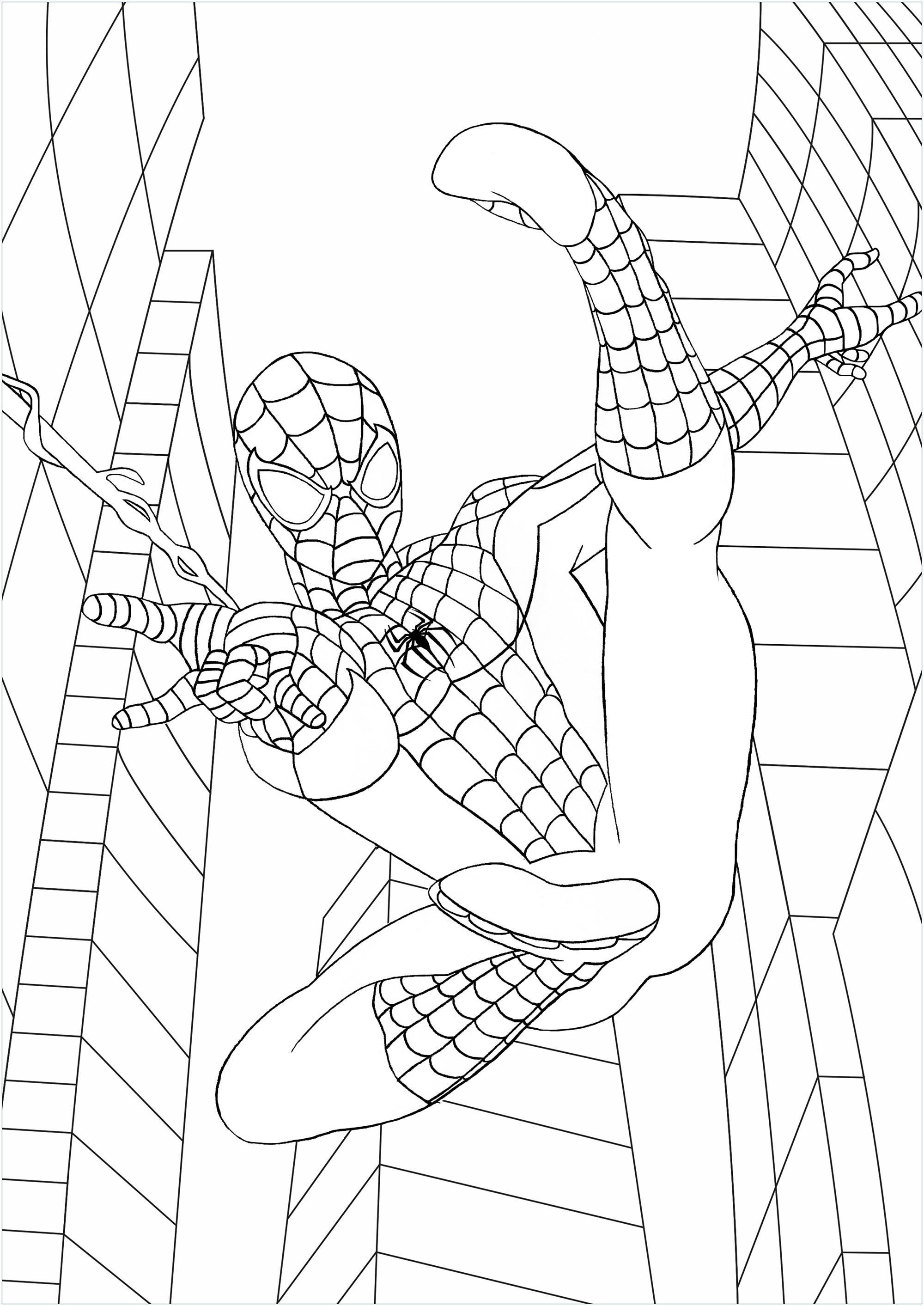 spiderman coloring pages easy spiderman simple drawing at getdrawings free download spiderman coloring easy pages